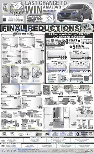 Featured image for Gain City Electronics, TVs, Washers, Digital Cameras & Other Offers 24 May 2014