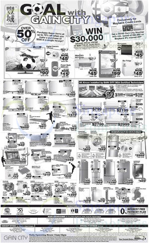 Featured image for Gain City Electronics, TVs, Washers, Digital Cameras & Other Offers 31 May 2014