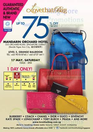 LovethatBag Branded Handbags Sale Up To 75% Off   Mandarin Orchard 17 May  2014 551b2517f8570