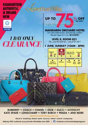 LovethatBag Branded Handbags Sale Up To 75% Off   Mandarin Orchard 1 Jun  2014 930ec4444c804