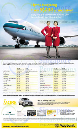 Featured image for Cathay Pacific From $288 Promo Air Fares For Maybank Cardmembers 8 May – 2 Jun 2014