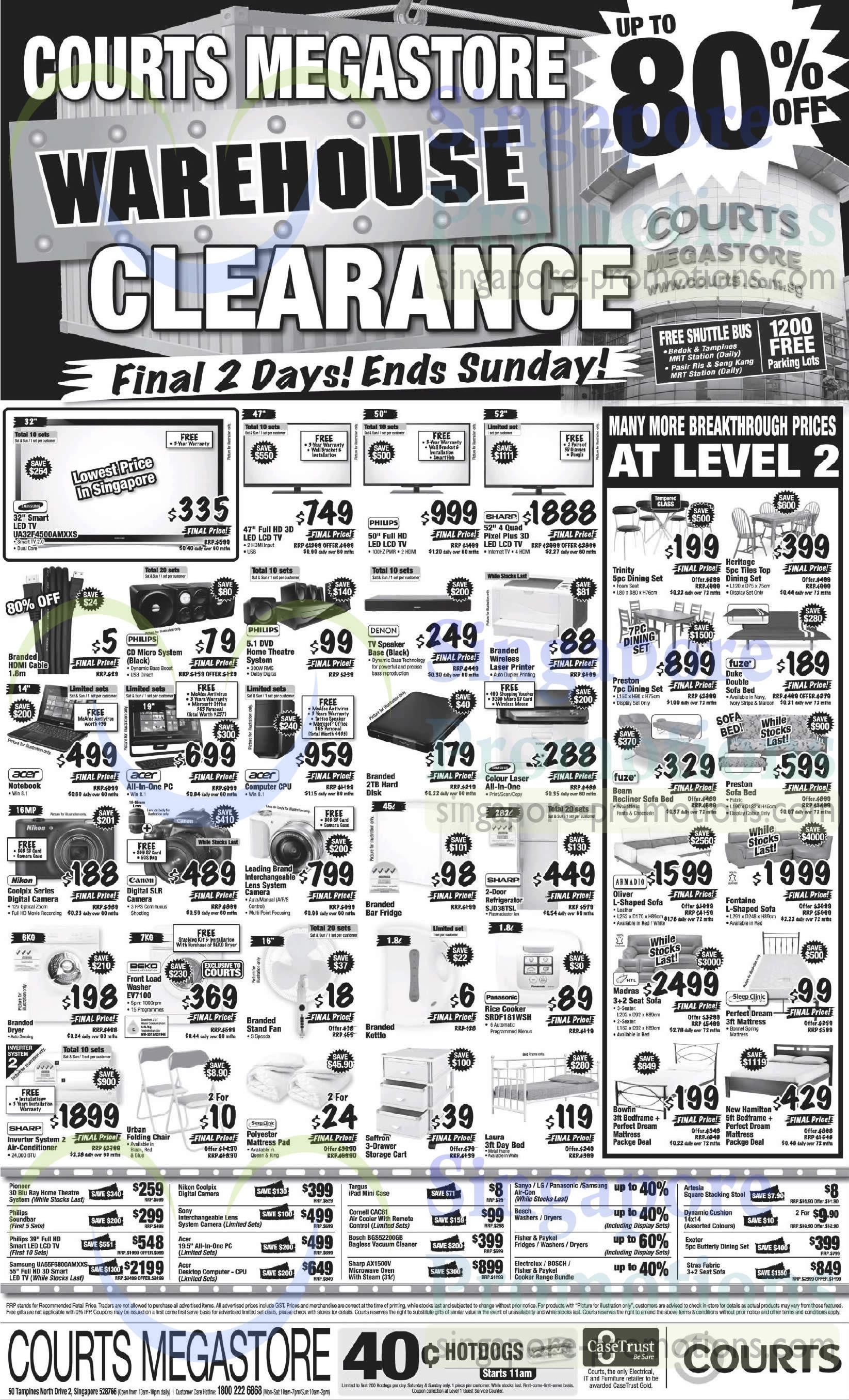 Megastore Warehouse Clearance TVs, Cameras, Fridges, Fans