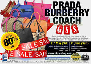 Featured image for Nimeshop Branded Handbags Sale Up To 80% Off @ Two Locations 31 May – 1 Jun 2014
