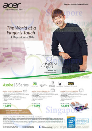 Featured image for Acer Notebooks, Desktop PCs, Tablets & Monitors Price List 1 May – 4 Jun 2014
