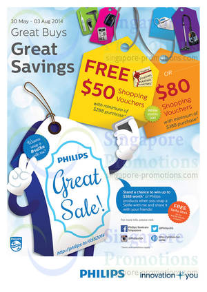 Featured image for Philips Spend $288 & Get Free Shopping Vouchers Great Sale 30 May – 3 Aug 2014