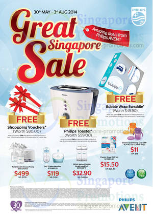 Featured image for Philips Avent Products Promo Offers 30 May – 3 Aug 2014