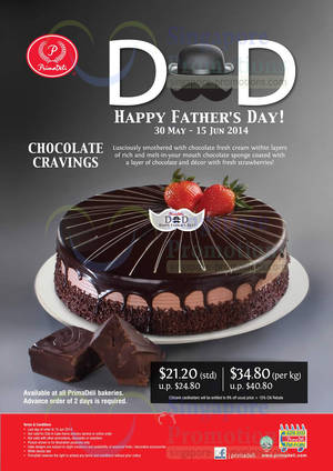 Featured image for Prima Deli Chocolate Cravings Cake Promo For Father's Day 30 May – 13 Jun 2014