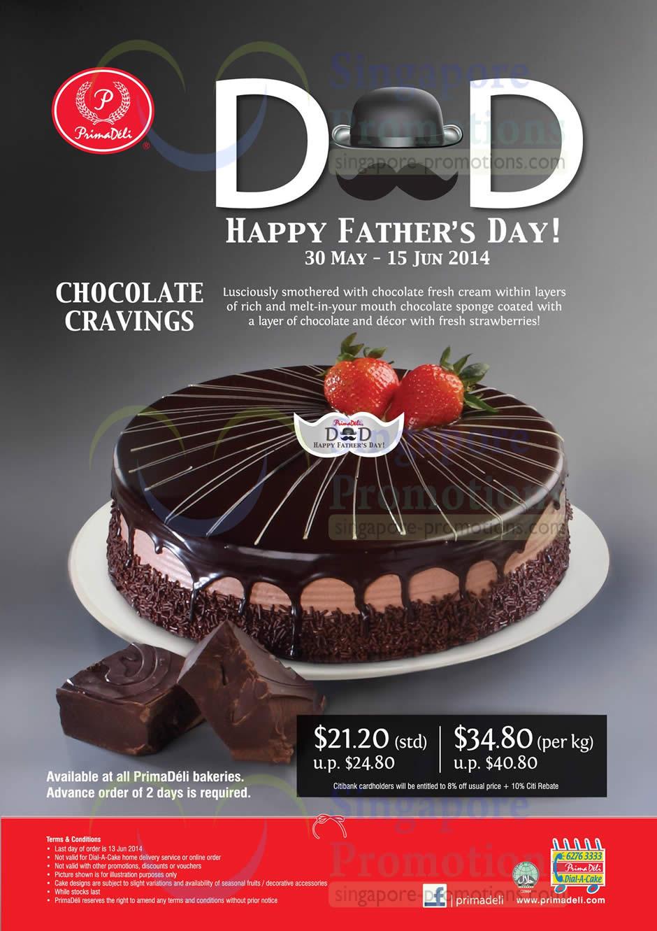 Prima Deli Chocolate Cravings Cake Promo For Father S Day