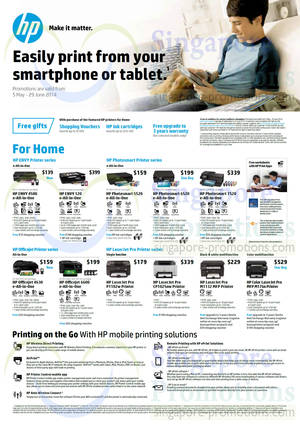 Featured image for HP Printers & Scanners Promotion Offers 5 May – 31 Jul 2014