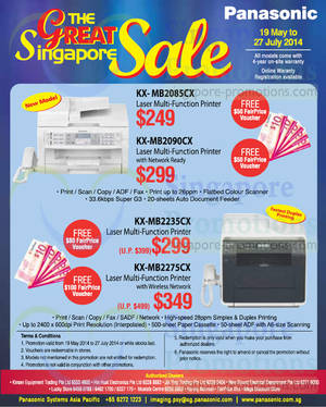 Featured image for Panasonic Printers & Phones Great Singapore Sale Offers 19 May – 27 Jul 2014