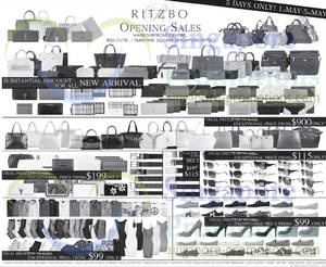 Featured image for Ritzbo Branded Fashion Opening Sale @ Harbourfront Centre 1 – 5 May 2014