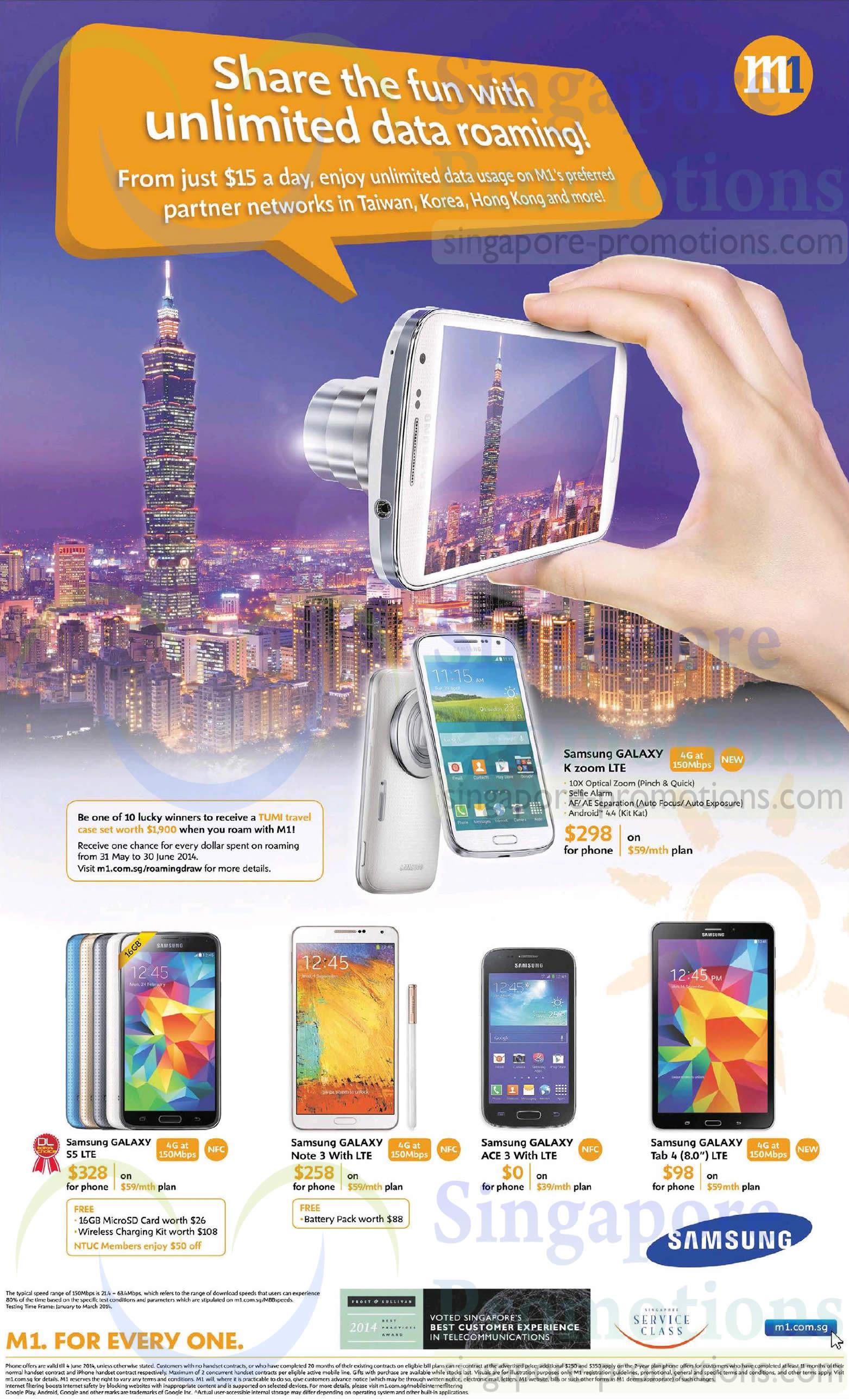 Samsung Galaxy K Zoom S5 Note 3 Ace 3 Tab 4 80 M1