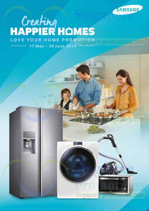Featured image for Samsung Washers, Fridges & Home Appliances Offers 17 May – 30 Jun 2014
