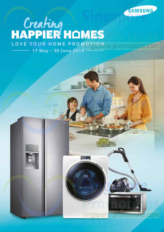 Featured image for Samsung Washers, Fridges & Home Appliances Offers 17 May - 30 Jun 2014