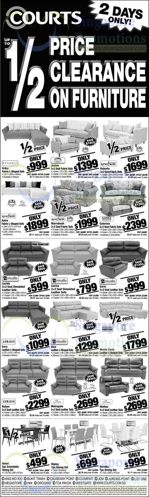 Featured image for Courts Up To 1/2 Price Clearance Offers 17 – 18 May 2014