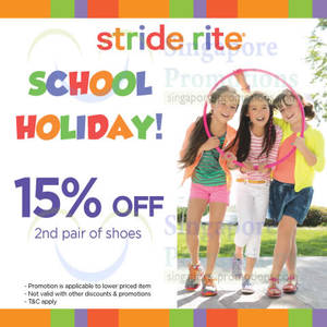 Featured image for Stride Rite 15% OFF 2nd Pair Promo 30 May – 29 Jun 2014