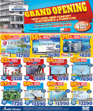 Featured image for Audio House Electronics, TV, Notebooks & Appliances Offers @ Bendemeer 24 – 27 May 2014