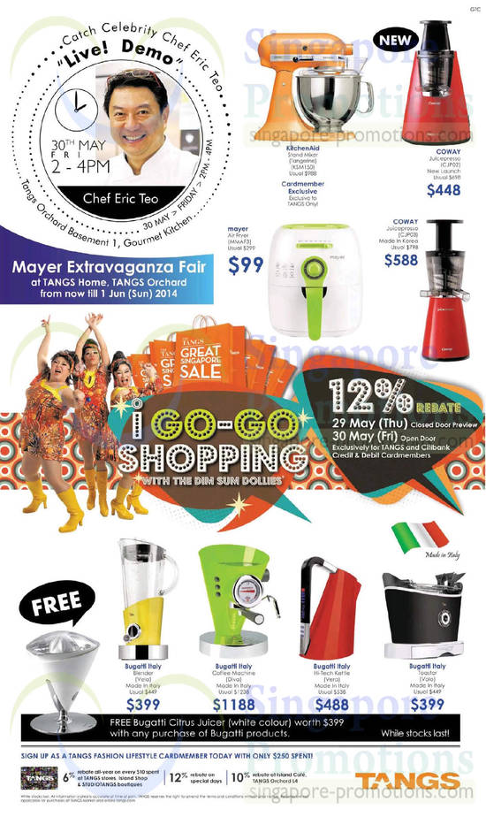 Tangs Kitchen Appliances 29 May 2014