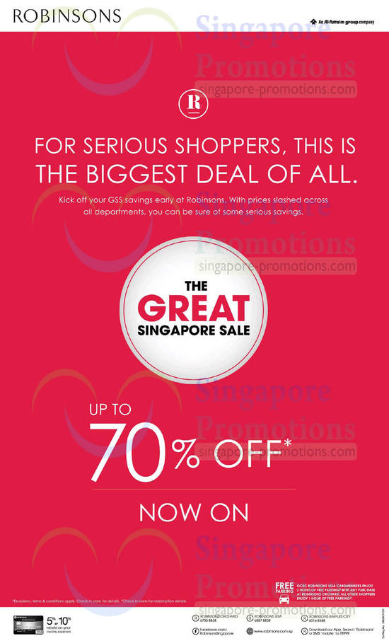 Featured image for Robinsons Great Singapore Sale Promotions & Offers 16 May 2014