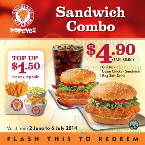 1 creole or cajun chicken sandwich 1 soft drink for Sonic fish sandwich