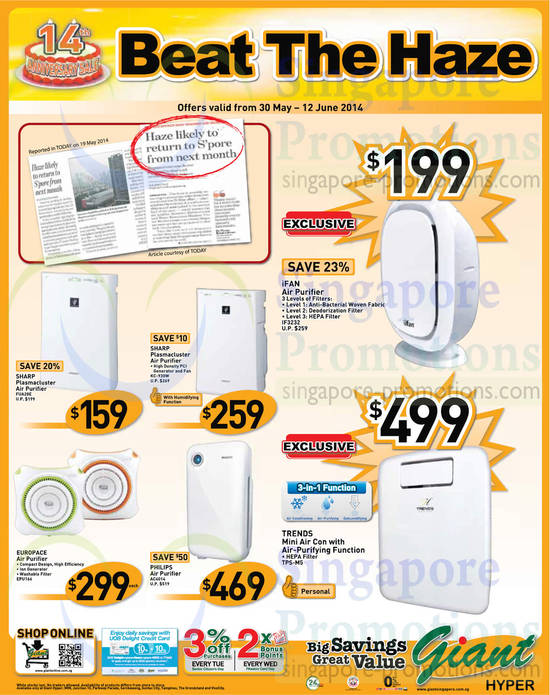 Featured image for Giant Hypermarket Cooling Appliances & Audio Visual Offers 30 May - 12 Jun 2014