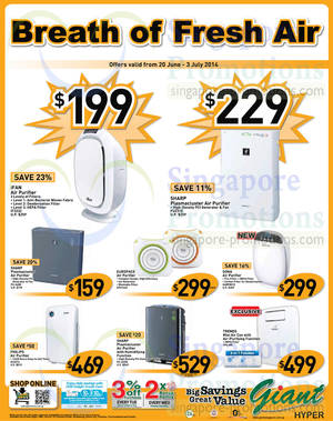 Featured image for Giant Hypermarket Cooling Appliances Offers 20 Jun – 3 Jul 2014
