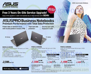 Featured image for ASUS Pro Business Notebooks Offers 4 Jun 2014