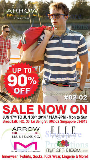 Featured image for Branded Fashion Warehouse Sale @ BreadTalk IHQ 17 – 30 Jun 2014