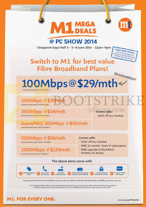 Featured image for M1 PC SHOW 2014 Smartphones, Tablets & Home/Mobile Broadband Offers 5 – 8 Jun 2014