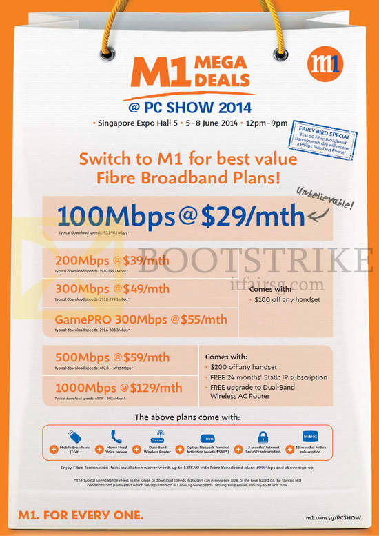 Featured image for M1 PC SHOW 2014 Smartphones, Tablets & Home/Mobile Broadband Offers 5 - 8 Jun 2014