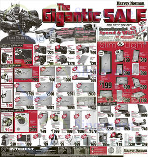 Featured image for Harvey Norman Digital Cameras, Furniture, Notebooks & Appliances Offers 7 – 13 Jun 2014