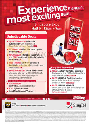 Featured image for Singtel PC SHOW 2014 Smartphones, Tablets, Home / Mobile Broadband & Mio TV Offers 5 – 8 Jun 2014