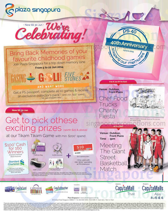 Exciting Prizes, Chef Food Trucks Charity Fiesta, Basketball Match