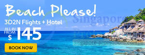 Featured image for Expedia Beach Getaways From $145 (Flights & Hotels) 19 – 30 Jun 2014