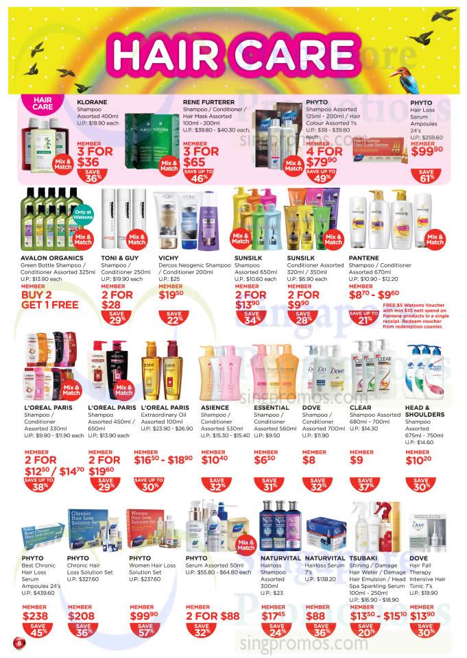 Hair Care Klorane, Rene Furterer, Phyto, Avalon Organics, Toni n Guy
