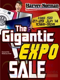 Featured image for Harvey Norman Gigantic Expo Sale @ Singapore Expo 27 - 29 Jun 2014