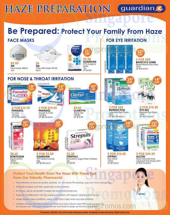 Alcon Tears Naturale Free Lubricant Eye Drops, Refresh Plus Lubricant Eye Drops, Panadol Cough & Cold