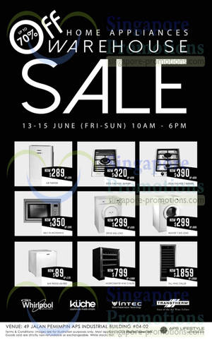 Featured image for APS Lifestyle Home Appliances Warehouse Sale 13 – 15 Jun 2014