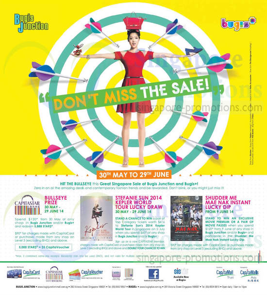 Lucky Draws, Bullseye Prize, Stefanie Sun World Tour Lucky Draw, Shudder Me Mae Nak Instant Lucky Dip
