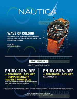 Featured image for Nautica Watches Up To 50% OFF 10 – 30 Jun 2014
