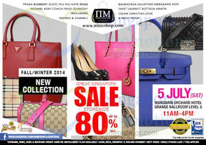 Featured image for Nimeshop Branded Handbags Sale Up To 80% Off @ Mandarin Orchard 5 Jul 2014