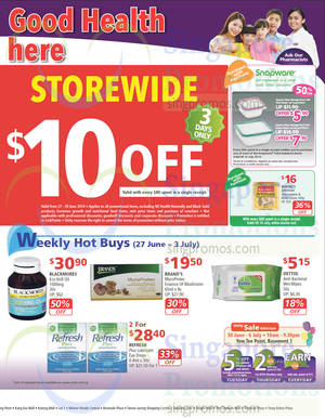 Featured image for NTUC Unity Health Offers & Promotions 27 Jun – 24 Jul 2014