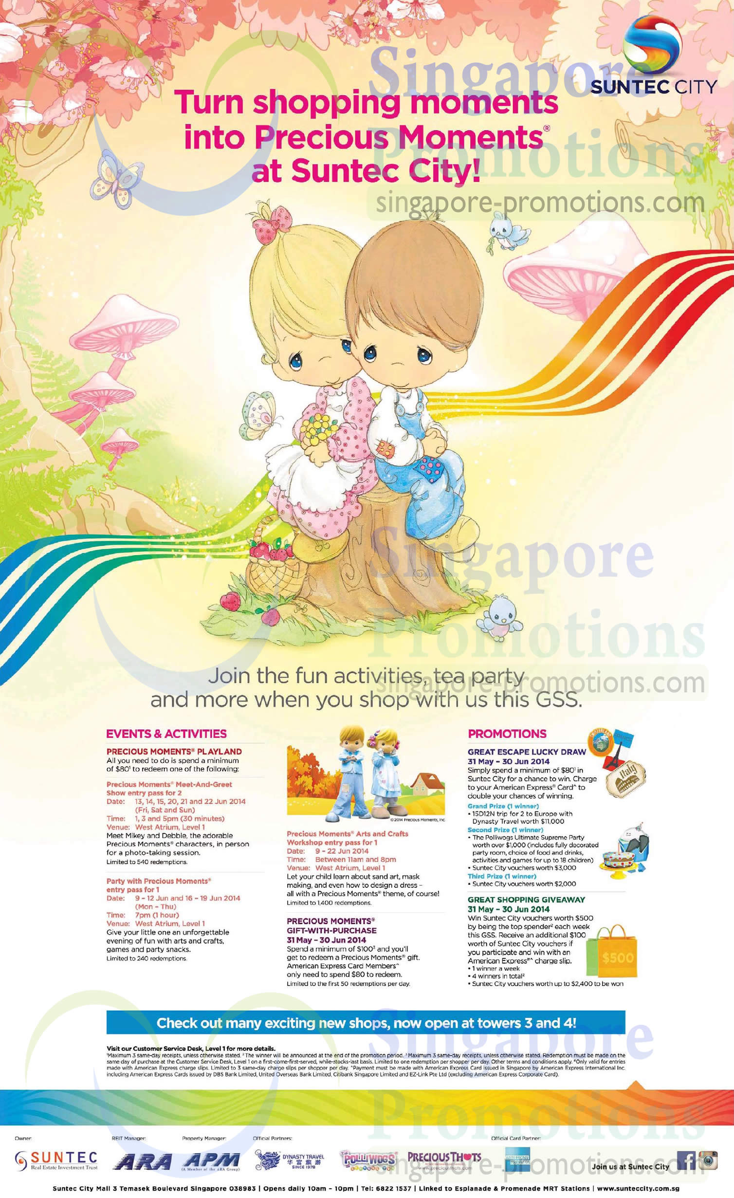 Suntec City GSS Promotions & Activities 31 May – 30 Jun 2014
