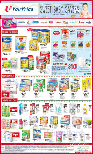 Featured image for NTUC Fairprice Baby Fair, Electronics, Groceries & More Offers 26 Jun – 9 Jul 2014
