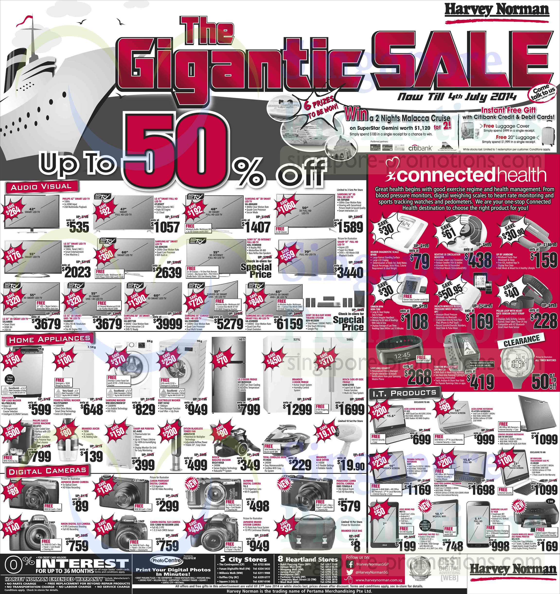 Featured image for Harvey Norman Digital Cameras, Furniture, Notebooks & Appliances Offers 21 - 27 Jun 2014