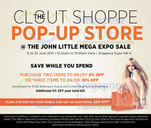 Clout Shoppe Pop-up Store   Singapore Expo 12 – 22 Jun 2014 4f0a6755f235b