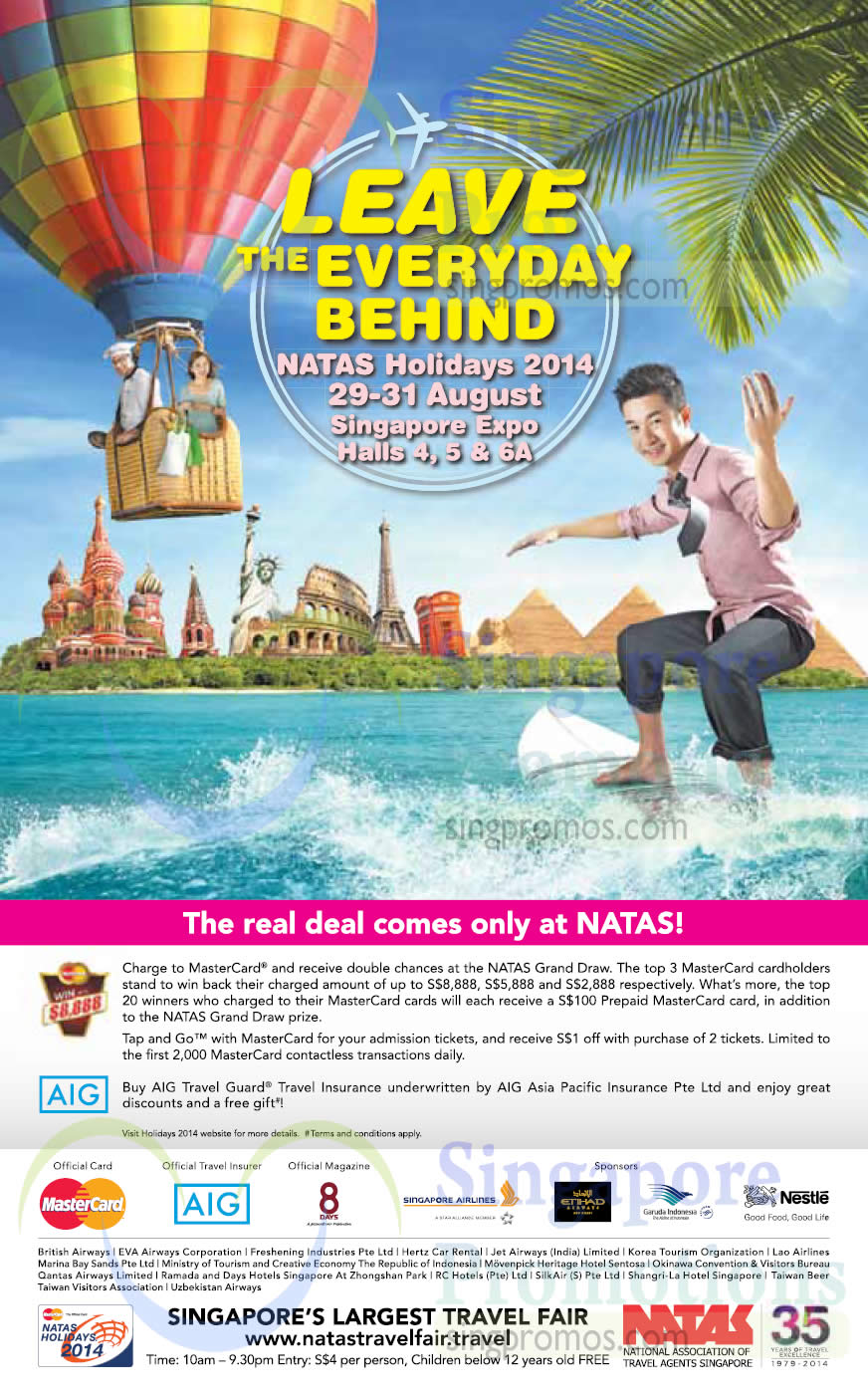 19 Aug Win Up To 8,888 Dollar, AIG Travel Insurance