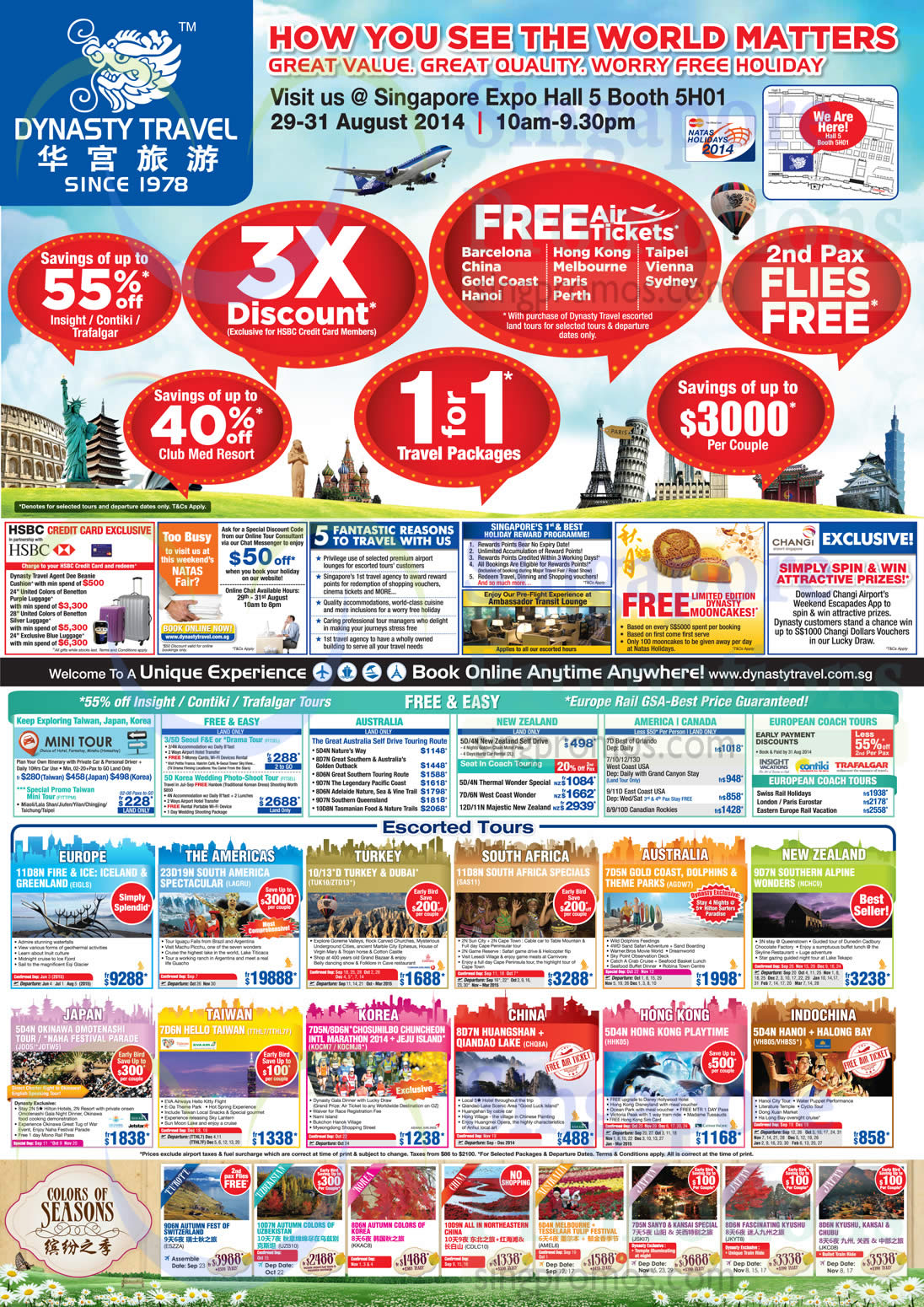 27 Aug Dynasty Travel 3X Discount, 1 For 1 Travel Packages, 2nd Pax Flies Free, Up to 55 Percent Off, Free Air Tickets