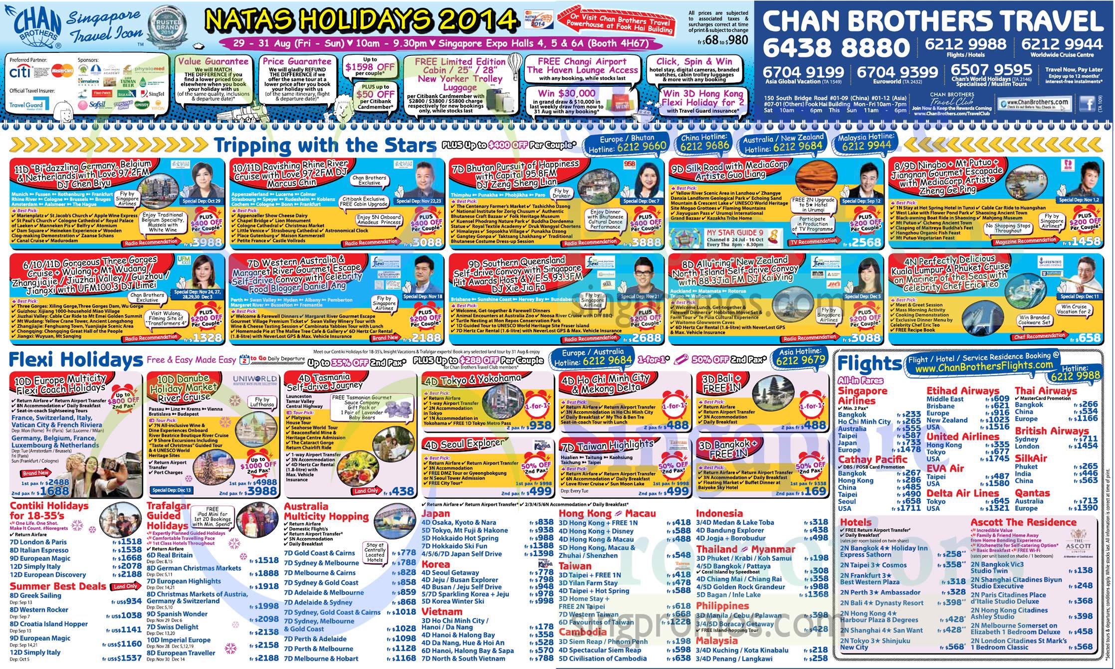 28 Aug Chan Brothers Australia, Japan, Korea, Vietnam, HongKong, Macau, Taiwan, Cambodia, Indonesia, Thailand, Myanmar, Philippines, Malaysia