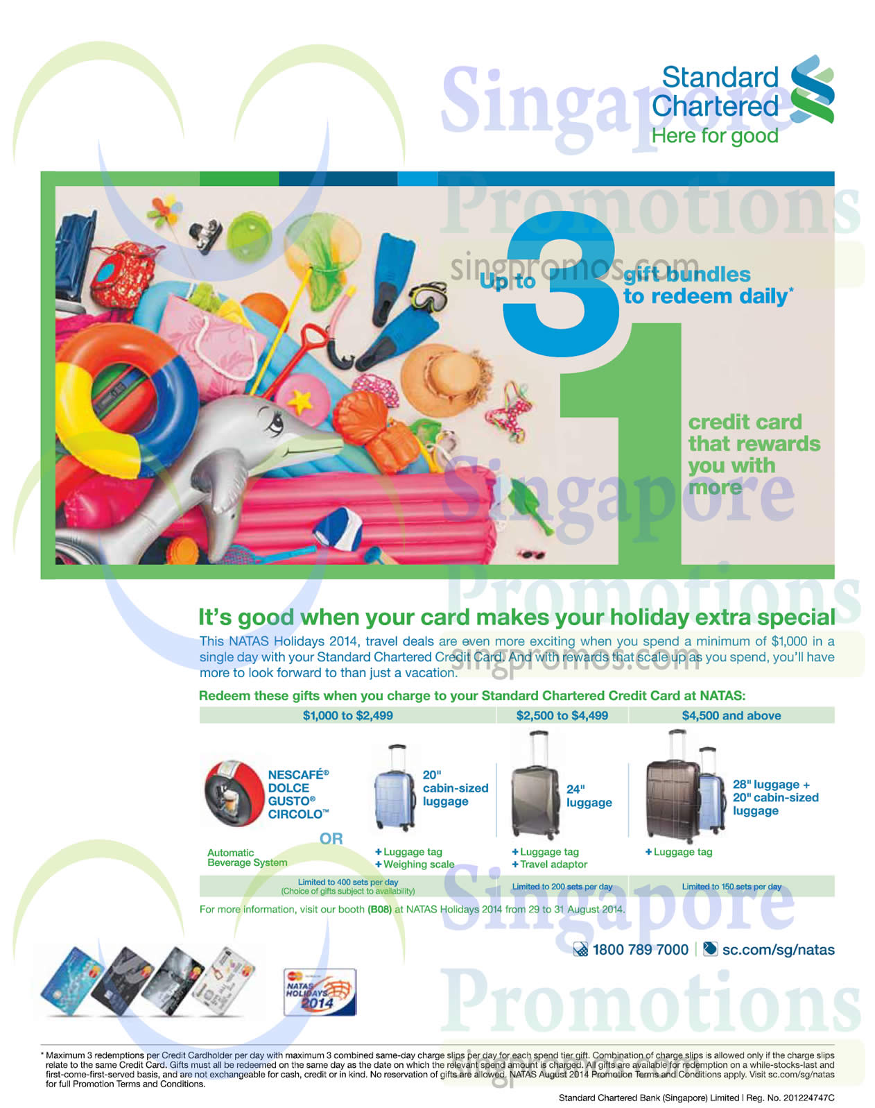 28 Aug Standard Chartered Free Luggages, Nescafe Dolce Gusto